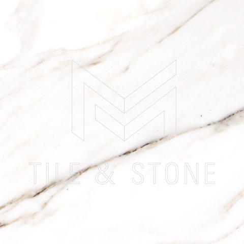 Calacatta Gold (Italian) Marble Tile (Micro-Beveled) 18 x18  3/8 Honed