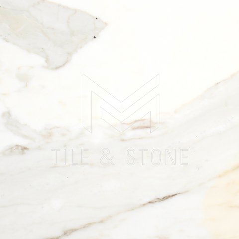 Calacatta Gold (Italian) Marble Tile (Micro-Beveled) 16 x16  3/8 Honed