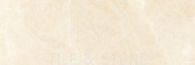 Noble White Cream Marble Tile - Deep Bevelled 4×12 3/8 Polished
