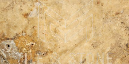 Scabos Travertine Tile - (Cross-cut) 3x6  3/8 Tumbled
