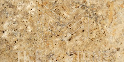 Scabos Travertine Tile (Deep-Beveled) 3x6  3/8 Honed
