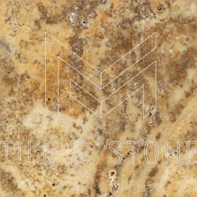 Scabos Travertine Tile - (Cross-cut) 4x4  3/8 CNC-Arched (Round-face / Wavy)
