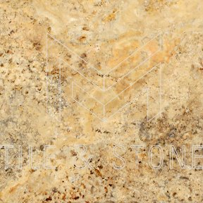 Scabos Travertine Tile - (Cross-cut) 4x4  3/8 Tumbled
