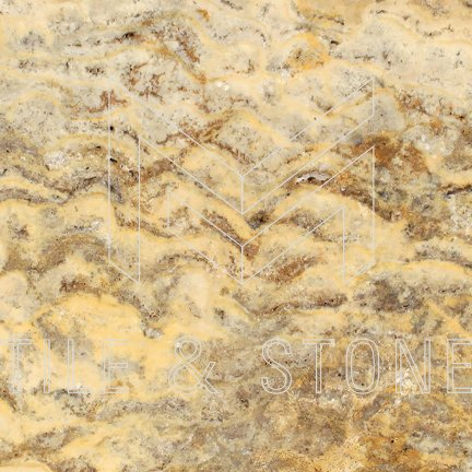 Scabos Travertine Tile - (Cross-cut) 6x6  3/8 Tumbled