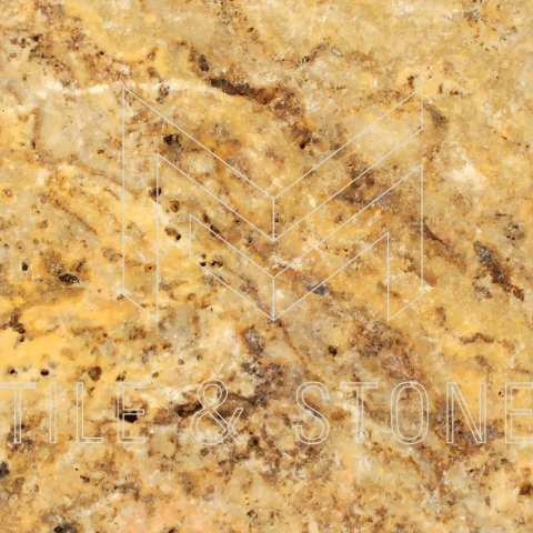 Scabos Travertine Tile - (Cross-cut) 12x12  3/8 Tumbled