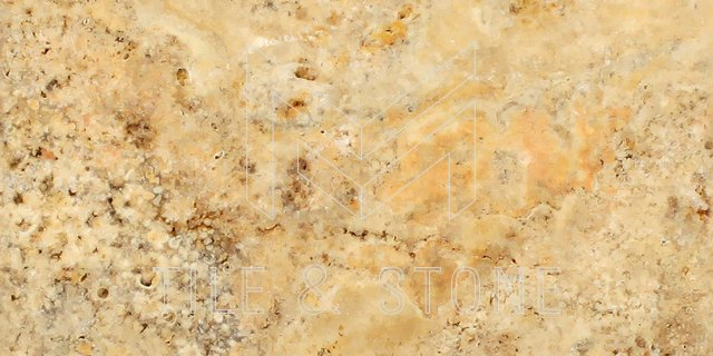 Scabos Travertine Tile - (Vein-cut) 12x24  3/8 Filled & Honed