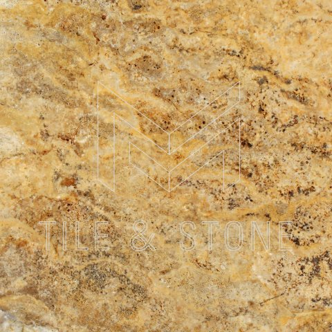 Scabos Travertine Tile - (Cross-cut) 18x18  1/2 Filled & Honed
