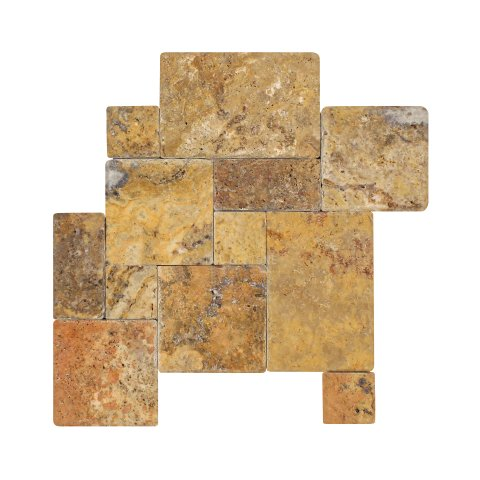 Scabos Travertine Versailles Pattern  1/2 Tumbled